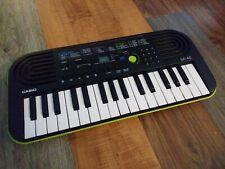 Casio Sa-46 Mini Keyboard LN Green Black Tested Missing battery Cover