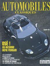 AUTOMOBILES CLASSIQUES n°115 07/2001 SPYKER C8 PORSCHE 550 BMW F2