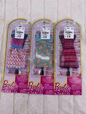 Lot of 3 Barbie Fashions Clothes Dresses Sparkle Party Dresses NIB