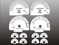 1990-1992 Chevrolet Camaro 140 mph Dash Cluster White Face Gauges 82-92