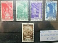 FRANCOBOLLI ITALIA REGNO 1935 PRO OPERA PREVIDENZA SERIE NUOVA MNH** SET (C.W)