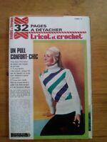 MODES ET TRAVAUX TRICOT CROCHET FEVRIER 1974