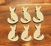 Wooden Fox Cutout Shape Wooden Fox Craft Art Embellishment Decor Decoupage