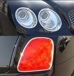 EXPRESS COMBO Set CHROME Headlight & Tail Light Bezels for Bentley Flying Spur
