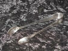 Antique Edwardian Silver Plated Sugar Tongs Crown Pattern