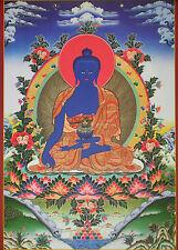 Tibetan Thangka Poster for Dharma Practice MEDICINE BUDDHA