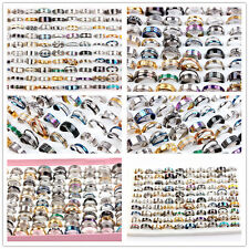 Fashion Jewelry 50Pcs Mixed STAINLESS STEEL RINGS WHOLESALE BULK LOT MEN'S Rings