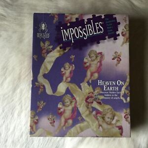 BEPUZZLED Impossibles HEAVEN ON EARTH Jigsaw Puzzle 750 Piece 1994 Angel Baby