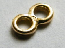 """18ct Yellow Gold """"Figure-8"""" Jump Ring Heavy- Jewellery Making- 18K Findings .750"""