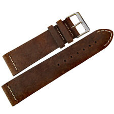 20mm ColaReb Italy Spoleto Dark Brown Distressed Leather Watch Band Strap