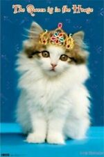 THE QUEEN IS IN THE HOUSE ~ 22x34 CUTE KITTEN POSTER ~ Keith Kimberlin ART CAT