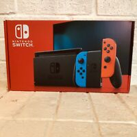 Brand New Nintendo Switch Console Neon Red & Neon Blue JoyCon *NEW 2019 MODEL*