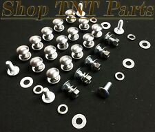 GM Bumper Bolts / Nuts / Flat & Lock Washers 25/100pc Kit Stainless Round 3/8""