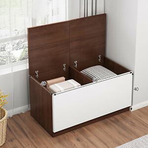 Home Ottoman Storage Trunk Toy Chest Bedding Blanket Box Seat Bench Footstool