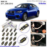 19 Bulbs Deluxe LED Interior Dome Light Kit Xenon White For E71 2008-2014 BMW X6