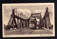112071 AK Diemitz um 1935 Hindenburg Brücke Straßenbahn