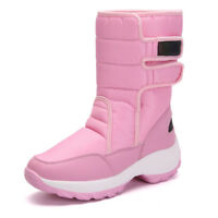 NEW Womens High-top Fur Lined Snow Boots Winter Warm Moon Boots Snowboard Shoes