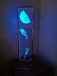 Engraved glass and copper light installation by J Allcorn - Charity Listing #1