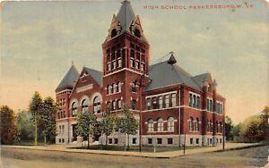 H65/ Parkersburg West Virginia Postcard c1911 High School Building 4