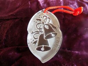 2003 Waterford Christal Song of Christmas Collection Silver Bells