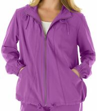 WOMAN WITHIN PRETTY ZIP FRONT HOODED ACTIVE JACKET WOMAN'S PLUS SIZE L 18/20 NIP