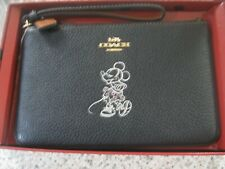 Coach 37540B Disney X Minnie Mouse Zip Wristlet BLACK Boxed