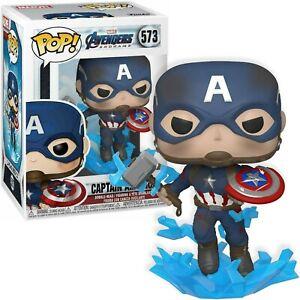 Funko Pop! MARVEL Avengers #573 Captain America Figurine w/ Shield & Mjolnir