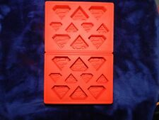 DC Comics  Superman Silicon Ice Cube Tray ~ Lot of 2