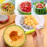 1x Stainless Steel Spoon Double-End Fruit Melon Cutter Baller Cream Kitchen