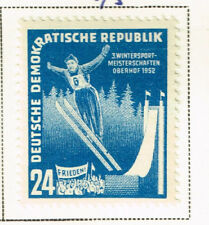 Germany DDR Winter Sport stamp 1952 MLH