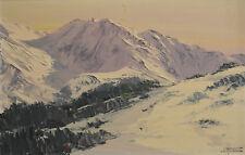 montagne signature à non lu Huile sur panneau v682