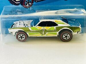 Hot Wheels Redline No. 9212 Chrome Olive/Green/Yellow Tampo 7 HEAVY CHEVY In BP!