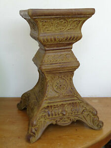 L3604 Antike Säule ~ Konsole ~ Aluminiumguss ~ Höhe 53cm