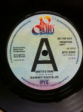 "Sammy Davis Jr - Baretta's Theme b/w I Heard A Song 7"" Vinyl Promo 20th Century"
