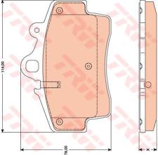 Bremsbelagsatz Scheibenbremse - TRW GDB1756