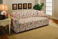 "JERSEY   ""FITTED""   PINK FLORAL SLIPCOVERS-SOFA / LOVESEAT / CHAIR / RECLINER- X"