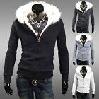 New Mens Casual Slim Fit Warm Winter Hoodies Jacket Hooded Coat Outerwear Tops