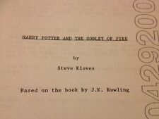 Harry Potter And The Goblet Of Fire Film Script