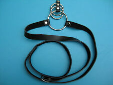 Men's Fetish Wear Belt -kinky bondage style belt with cbt rings fetishwear