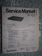 Technics Panasonic SE-A7 service manual original repair book stereo power amp