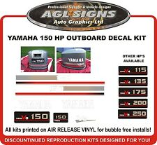 YAMAHA 150  V6 Outboard Decals Reproductions 115 135 175 200 250