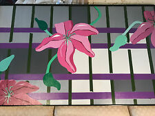 """Huge M Demarco 1986 """"Flowers"""" Oil On Canvas Painting - Signed And Framed"""