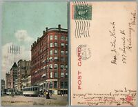 MINNEAPOLIS MN HENNEPIN AVENUE ANTIQUE 1907 UNDIVIDED POSTCARD