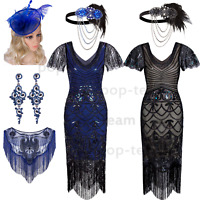 1920s Flapper Gatsby Cocktail Dress Mermaid Wedding Party Formal Evening Dresses