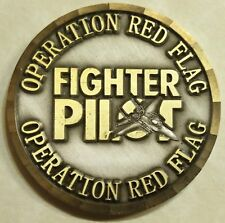 Operation RED FLAG Fighter Pilot Large Formation Film Air Force Challenge Coin