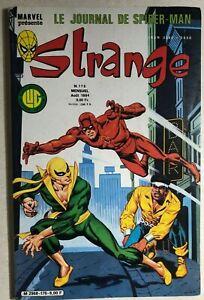 STRANGE #176 French color Marvel comic 1984 Spidey Miller DD Iron Fist VG+