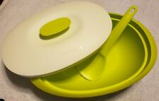NEW Tupperware Essentials Rice Server with Cover & Ladle Basil Green 7 1/2 Cups