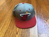 Miami Heat Mitchell & Ness Snapback Hat Cap NBA Vintage Collection Nice!