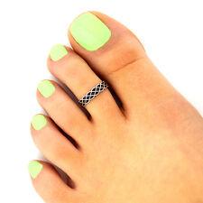 design adjustable toe ring T135 Sterling silver toe ring Celtic knot