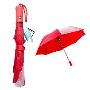Rainkist Red Umbrella with Clear Poe Window Compact Folding Umbrella NEW